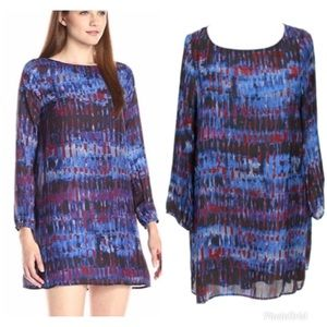 Plus Size Blue And Purple Shift Dress
